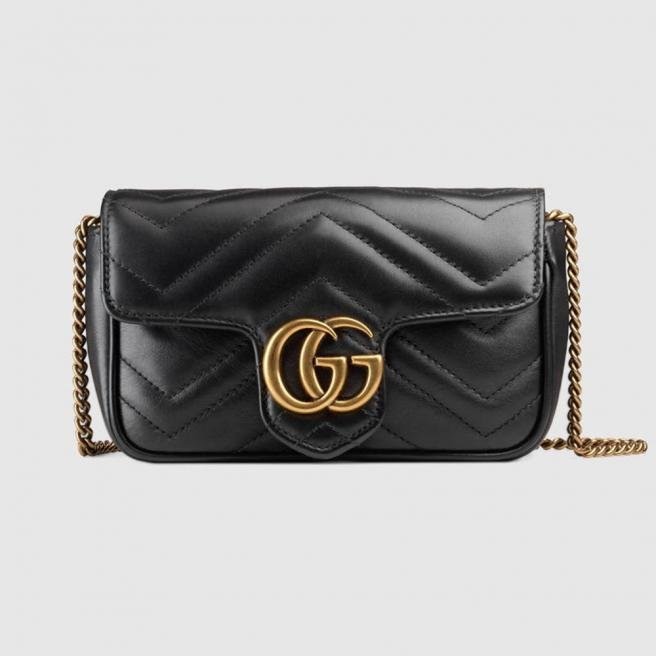【GUCCI】Marmont supermini shoulder bag