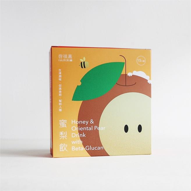 【启祺嘉】Honey & Pear with Beta-Glucan 15pack